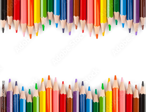 Multicolored pencils Fotomurales