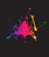 Black Background Splat
