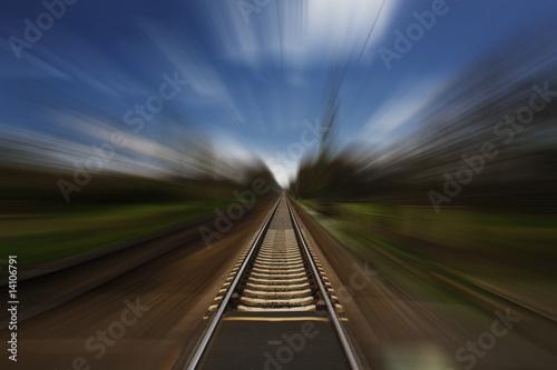 Keuken foto achterwand Spoorlijn Bahnstrecke