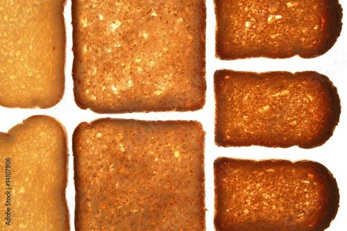 Bread varied slices on transparent background