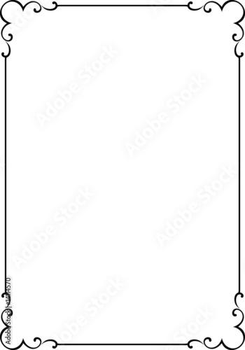 Fotografie, Obraz  Vector decorative frame