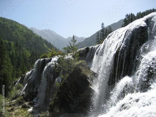 huanglong waterfall