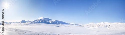 Fotobehang Wit Winter Landscape