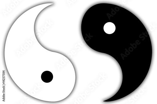 Yin & Yang gebrochen Wallpaper Mural