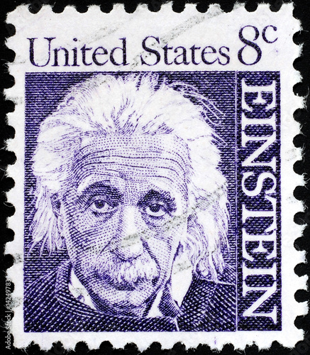 Pinturas sobre lienzo  Albert Einstein portrait on US postage stamp