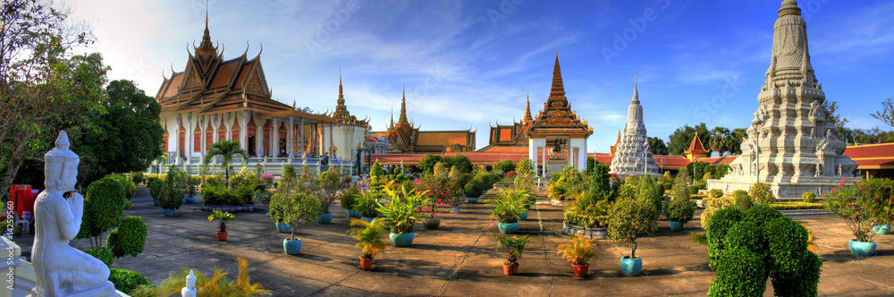 Fototapety, obrazy: Silver Pagoda - Phnom Penh - Cambodia