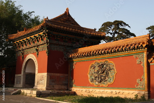 Fotografie, Tablou Chinese temple