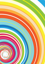Abstract Background With Glassy Colorful Rainbow Spiral