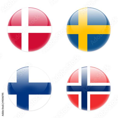 button staaten skandinavien Fototapet