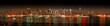 Leinwanddruck Bild Manhattan panaroma skyline at Christmas Eve