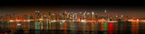 Manhattan panaroma skyline at Christmas Eve