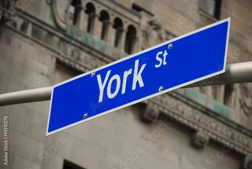 The famous York Street in Toronto, Canada