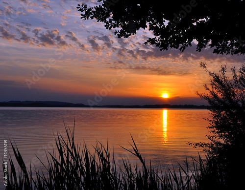 Motiv-Rollo Basic - Sonnenuntergang Chiemsee II