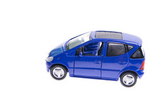 Little Model Car Isolated On W...