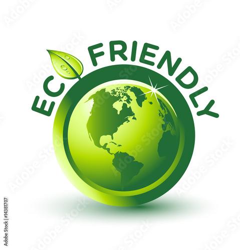 Fotografie, Obraz  Vector Green ECO FRIENDLY Label