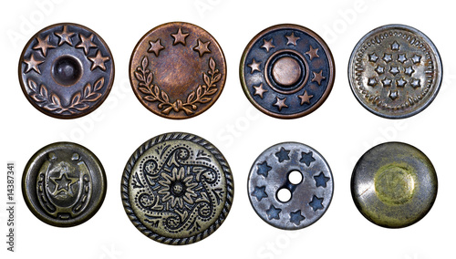 Fotografía  Old metal buttons with stars