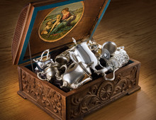 Chest With Silver Tableware