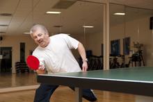 Tischtennisspiele An Der Platte