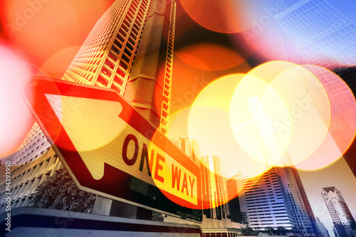 Autocollant - Abstract сщдщкагд background of Downtown Los Angeles