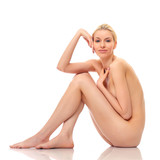 Beautiful naked woman poses