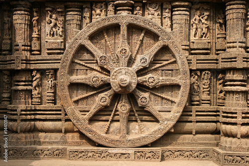 Fotografie, Obraz Ancient Hindu Temple at Konark, Orissa, India. 13th Century AD
