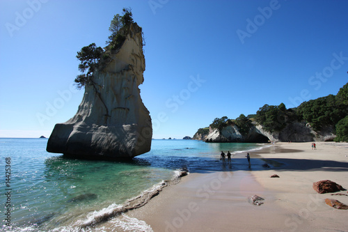 Montage in der Fensternische Cathedral Cove New Zealand - Cathedral Cove, Coromandel