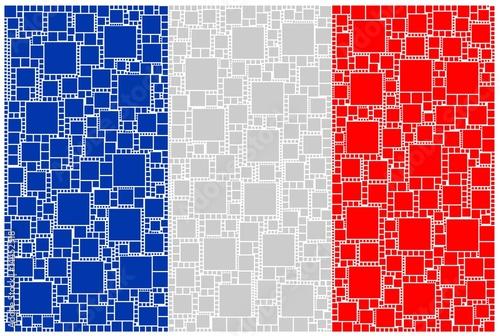 Poster Artificiel Mosaico della bandiera francese