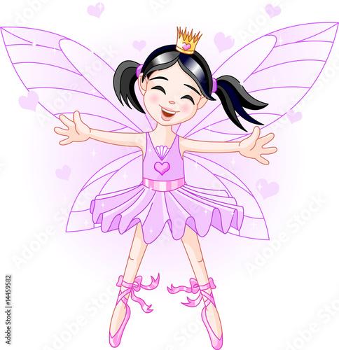 La pose en embrasure Fées, elfes Little violet fairy