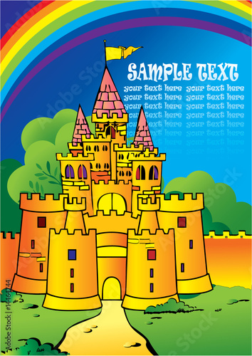 Foto op Canvas Kasteel Castle Vector Illustration