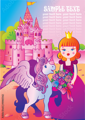 Deurstickers Pony Fairy tale