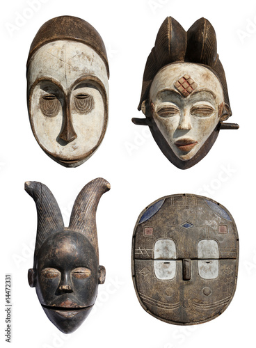 Photo Masques africains x 4