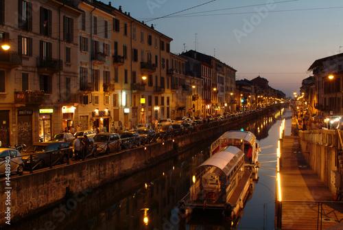 Fotobehang Milan Milano Navigli