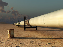 Pipeline In Desert