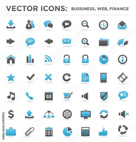 Fotografie, Obraz  vector business web finance icons