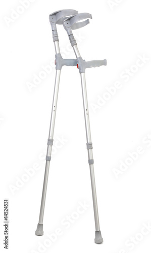 Leinwand Poster crutches isolated on white