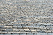 Cobblestone pavement at Red Square in Moscow, Russia