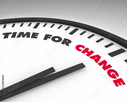 Fotografie, Obraz  Time for Change - Clock