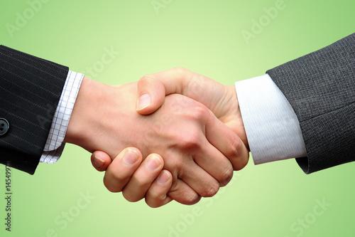 Fotografie, Obraz  handshake business_green