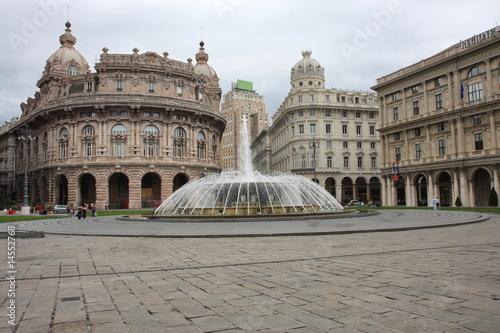 Fotografia  Genova Piazza De Ferrari