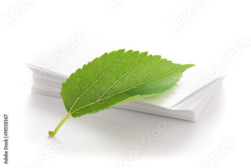 Fotografie, Obraz  imprimerie écologique - recyclage bois papier - recycler