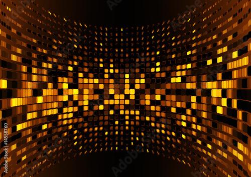 Naklejki abstrakcyjne organiczna-powierzchnia-polkola-wykonana-z-brazowych-kwadratow