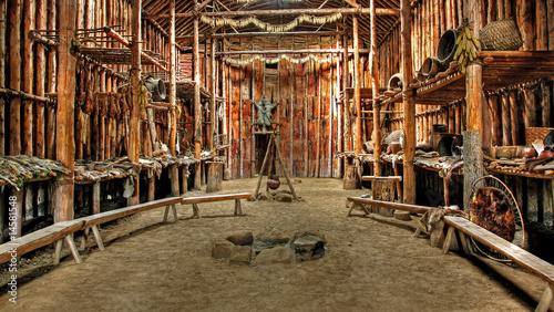 Obraz na płótnie Native Indian Hut