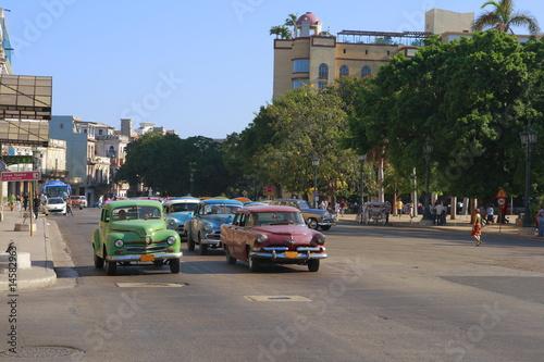 Türaufkleber Autos aus Kuba Kapitol in Havana