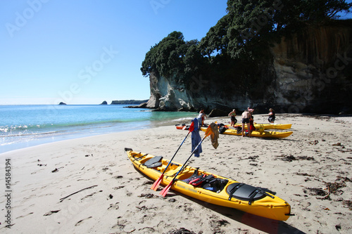 Foto op Canvas Cathedral Cove Sea kayaking in Coromandel, New Zealand