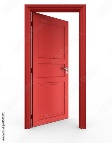 Fotografie, Obraz  Open red door