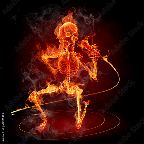 Photo sur Aluminium Flamme Singer
