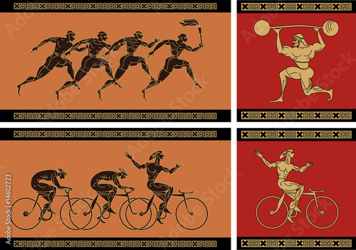 old greek sport Wallpaper Mural