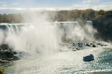 Boat Ride Under Niagara Falls, Niagara, Ontario, Canada