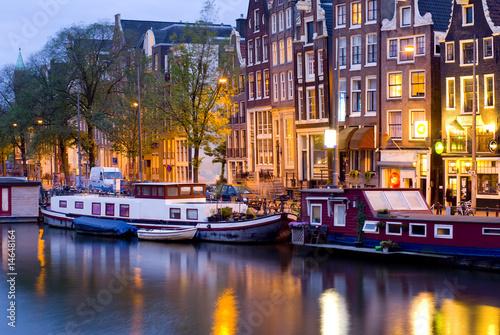 Foto-Kassettenrollo premium - Amsterdam by night