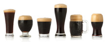 Differente Glasses Of Stout Be...